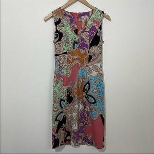 Etro Paisley Fitted Sleeveless Shift Dress SZ US 6